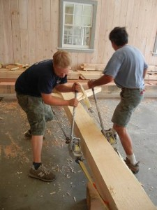 Timber Frame Pre-assembly