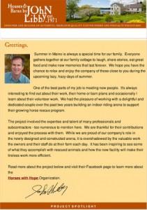 Newsletter 2013 Houses & Barns by John LIbby