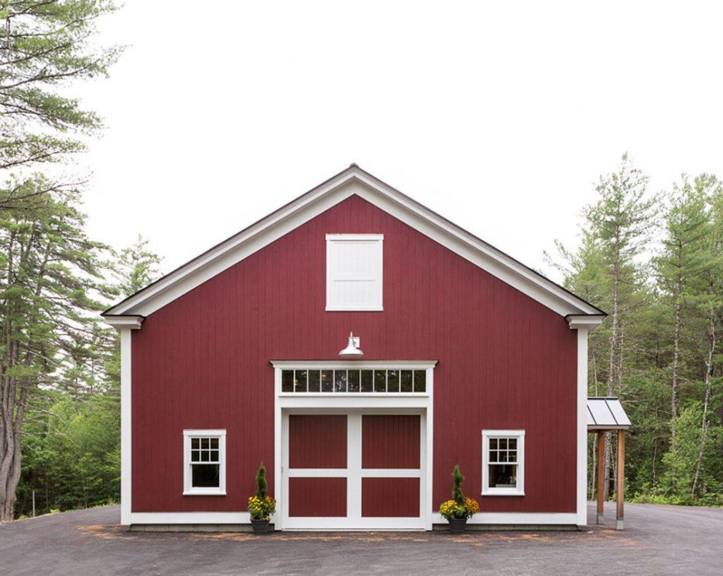 Maine Mountainside Timber Frame Barn