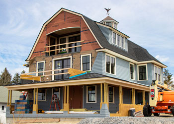 Beautiful seaside home under construction