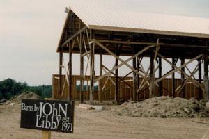 Gillespie Farm under construction 1979